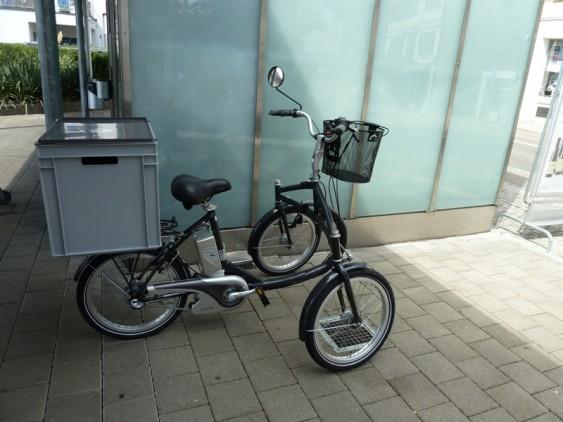 Tem bicicleta-cargo, também, no Japão