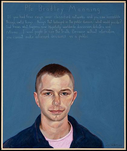 Retrato de Bradley Manning por Robert Shetterly (Crédito: Americanswhotellthetruth.org)