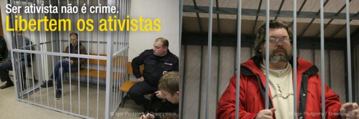 A liberdade de pensar e protestar na Russia - uma foto típica