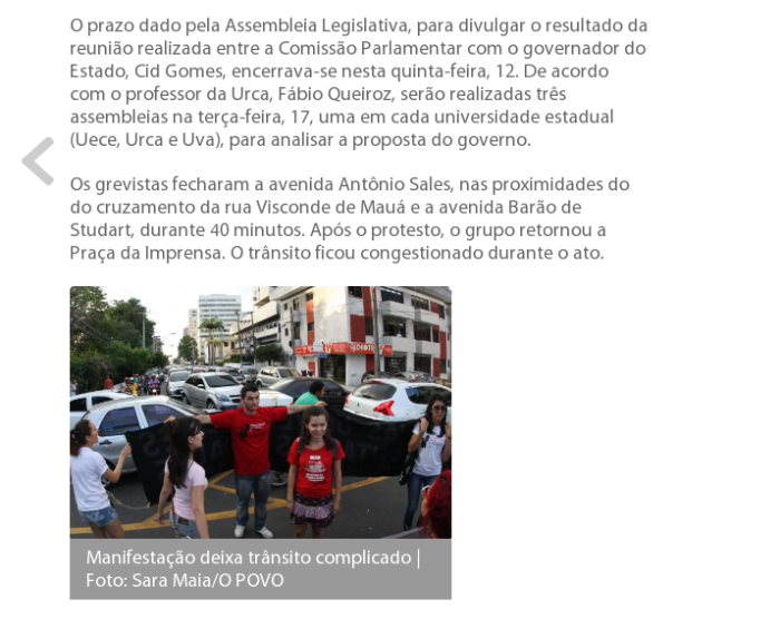 Manifestação das professores e estudantes  Cearenses na Praça