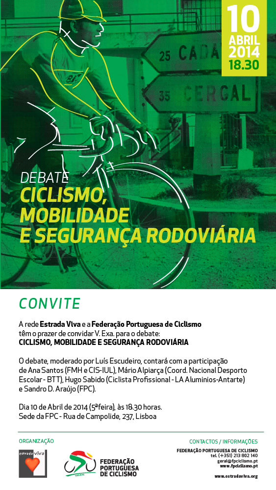 Ciclismo, Mobilidade e Segurança Rodoviária - convite