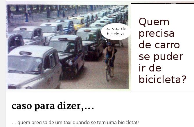 Para que um carro se posso ir de bicicleta?