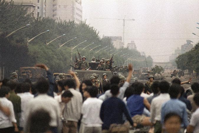 Na praça Tiananmen