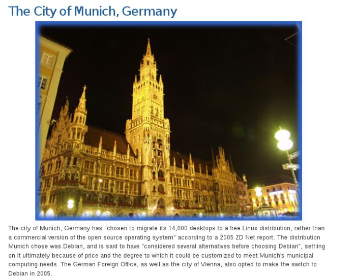 A municipalidade de Munique usa Linux