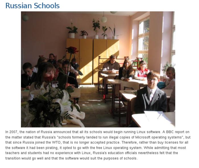Escolas na Russia