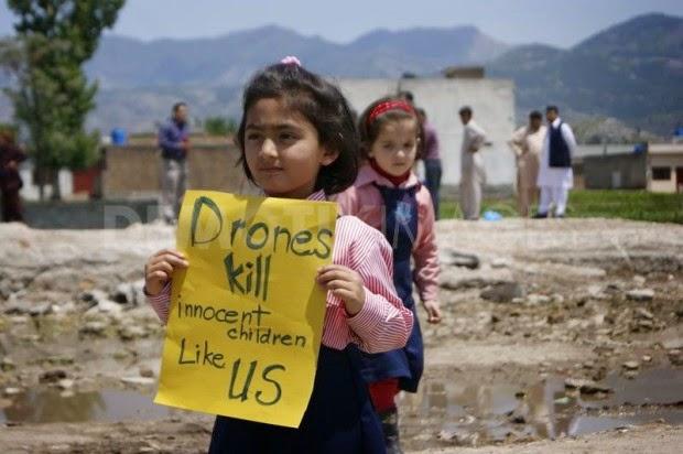 Drones matam crianças como nós