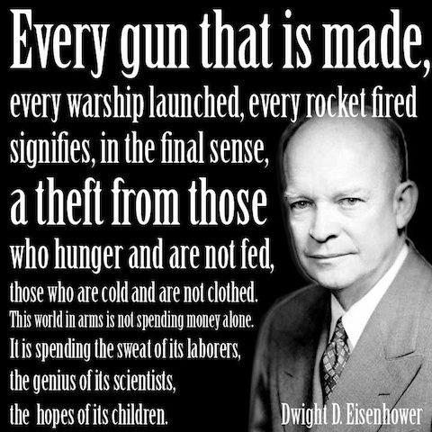 estas  palavras são do Presidente Dwight Eisenhower