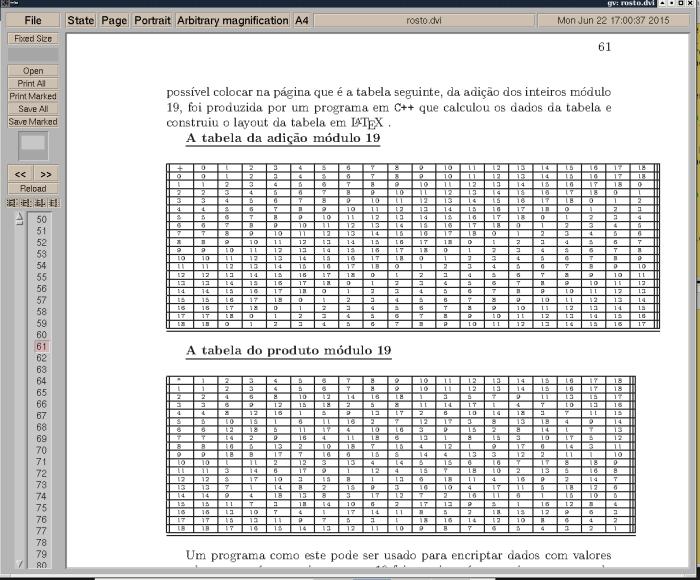 Propduto e adição módulo 19