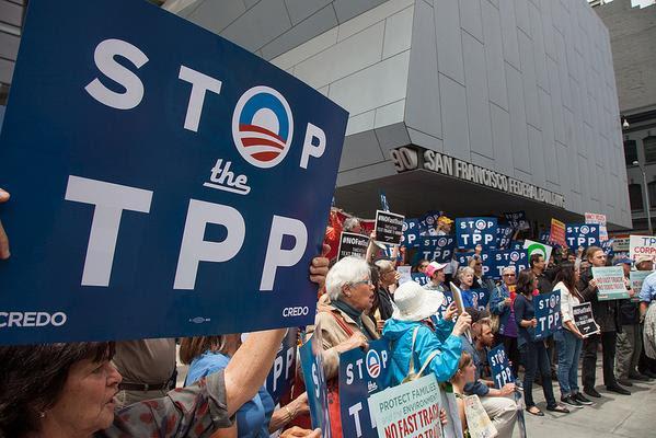 """TPP  - ativistas contra os """"grandes negócios"""" das multinacionais"""