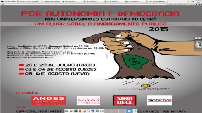 Seminário sobre autonomia financeira das universidades públicas