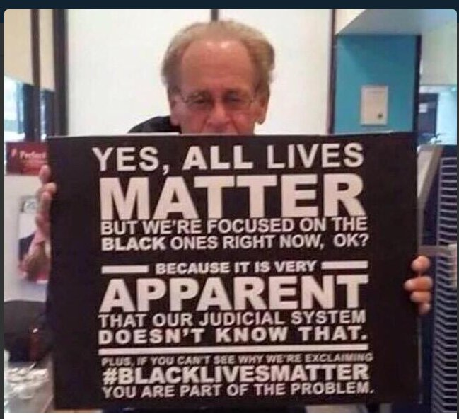 e se você não entender porque estamos reclamando da brutalidade policial, então você faz parte do problema