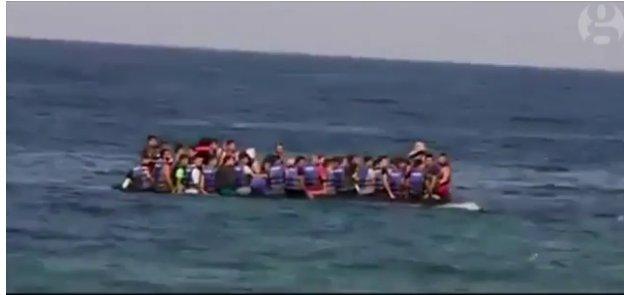 Pai nenhum levaria seus filhos para um bote se houvesse segurança em terra firme