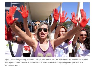 Vamos fazer uma cota, quem não puder ir paga, vamos colocar um milhão de brasileiras para invadir STF e Senado!