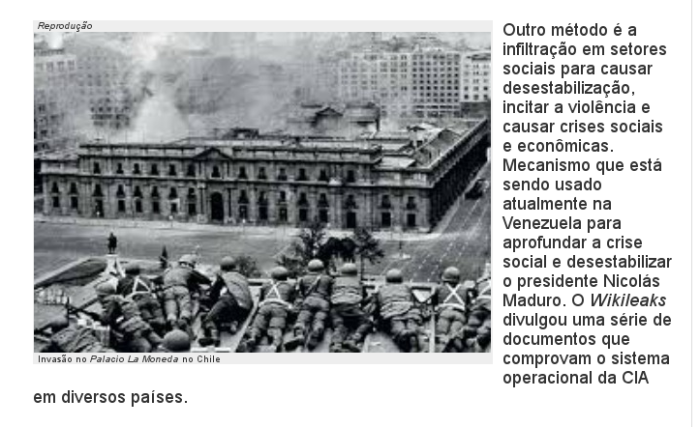 é para que servem os exércitos, no Chile, no Brasil em 1964 e no resto da América latina - lacaios da C.I.A.