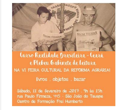 Quando: no sábado, dia 11 de Fevereiro Onde: Rua Paulo Firmeza, 445 em São João do Tauape no Centro de Formação Frei Humberto