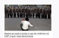 nem parece, mas é um estudante sentado no chão aguardando uma turma de professores, na USP