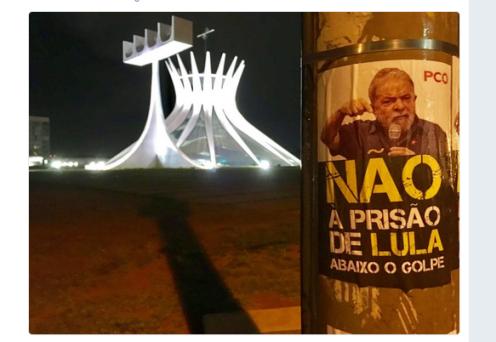 Na verdade se trata duma prisão política e um golpe dentro do golpe